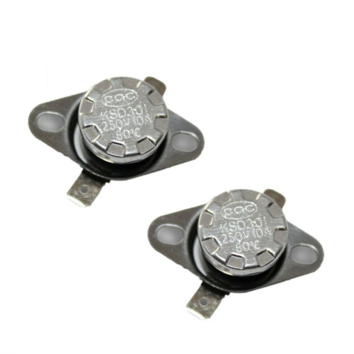 2Pcs/lot KSD301 N.C 55°C Thermostat Temperature Thermal Control Switch 10A 250V