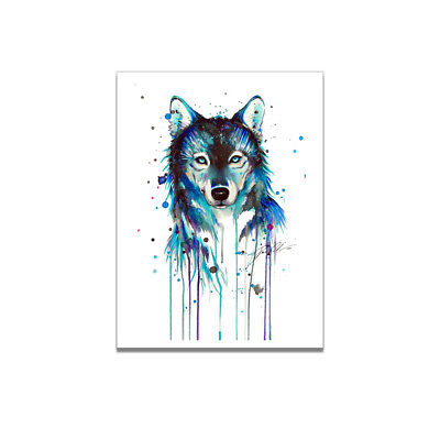Abstract Wolf Animal Canvas Art Painting Poster Room Picture Home Wall Decor