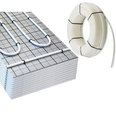 30m² doitBau TAC Fußbodenheizung Tackersystem Set Warmwasser Rolljet Dämmung
