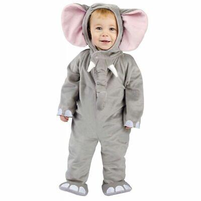 Toddler Cuddly Elephant Animal Costume 3T-4T - 3t Elephant Costume