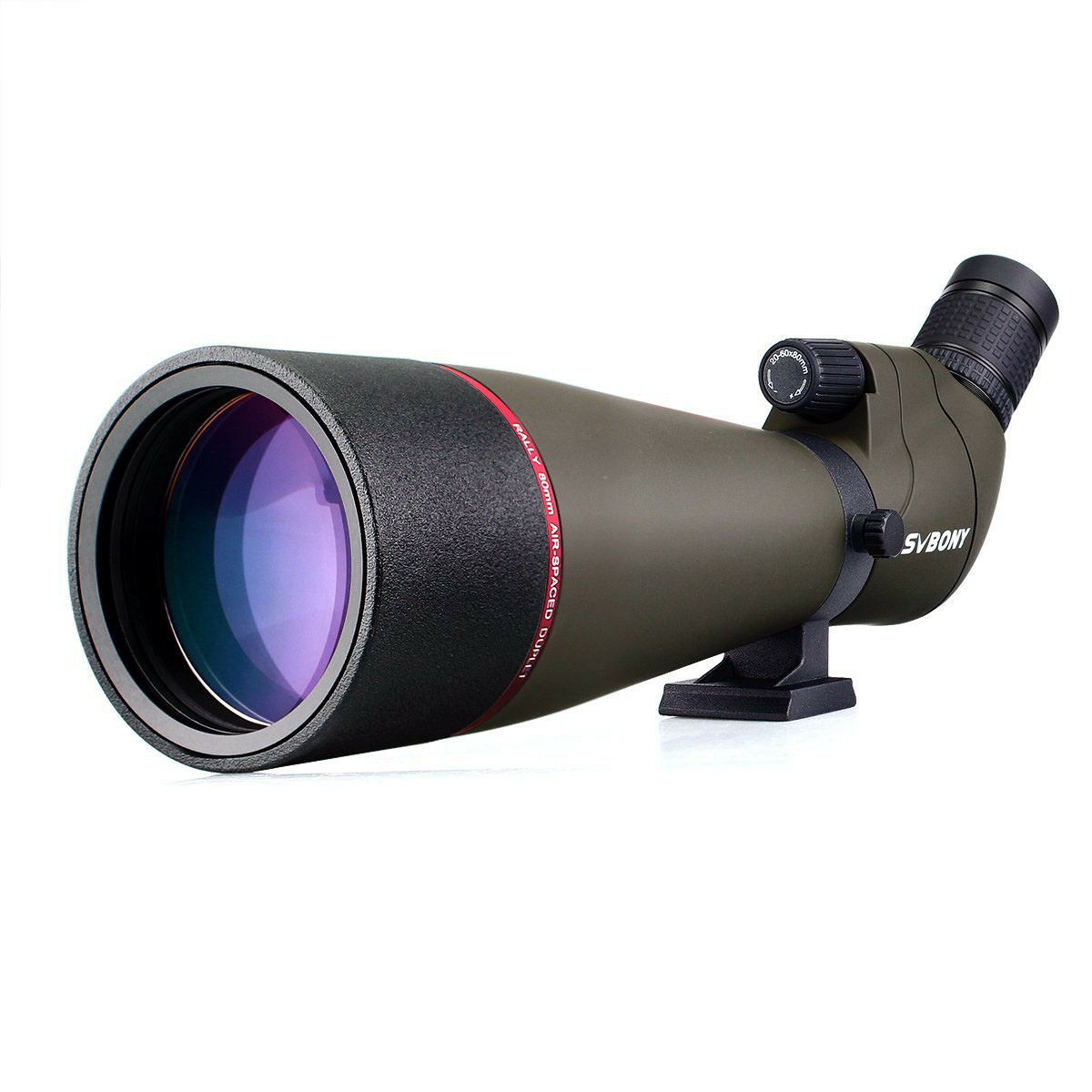 Spotting Scope SVBONY 20-60x80mm Bk7 Zoom Spotting Scope FMC