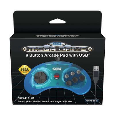 Retrobit - SEGA Mega Drive 6-button USB SEGA Megadrive Mini - Blue...