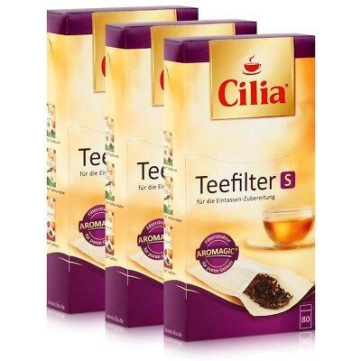 CILIA Teefilter 80 Stk. Grösse S ohne Halter verwendbar ( 3er Pack )