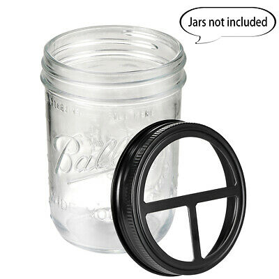 Mason Jar Toothbrush&Toothpaste Holder Lid  For Ball or Wide Mouth Mason Jar (Toothpaste Balls)