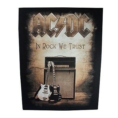 "XLG ""AC/DC In Rock We Trust"" Large Patch ACDC Band Fan Jacket Sew-On Applique"