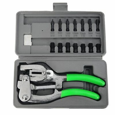 1 Ton Power Punch Kit Aviation Sheet Metal Hole Puncher 7 Sizes Die Auto Body Hd