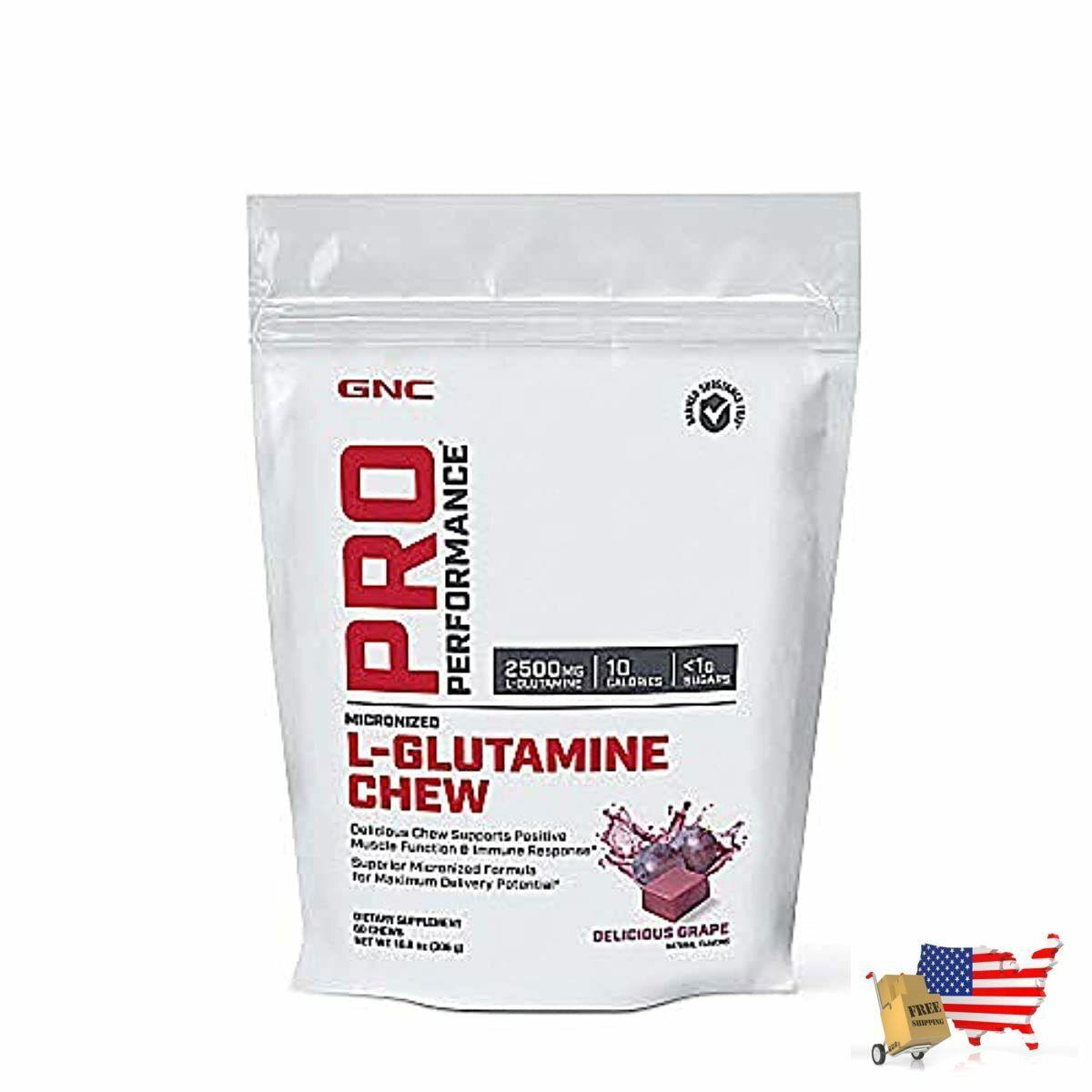 L-Glutamine Chew Performance Delicious Grape 60 Chews Suppor