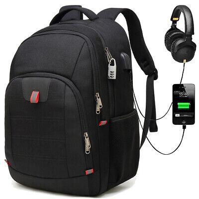 45L Rucksack Sport Freizeit Schulrucksack 17,3 Zoll Laptop Backpack mit USB Port ()