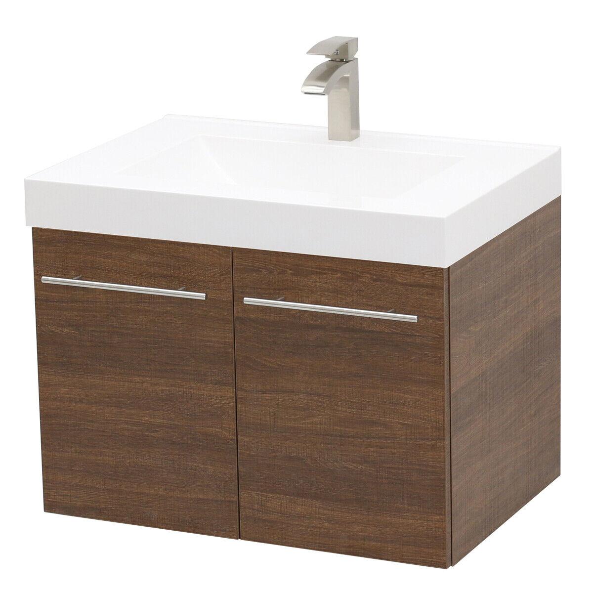"""WindBay 36"""" wall mount floating bathroom vanity sink set,  R"""