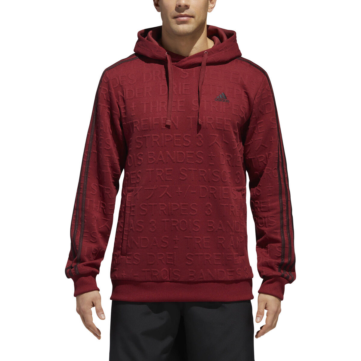 superior quality pretty nice detailed look New Men ADIDAS Big Badge Of Sport Log Essential Pull-Over Hoodie (DH9088)  Maroo