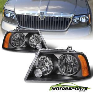 2003 2004 2005 2006 Lincoln Navigator Factory Style Black Headlights Pair