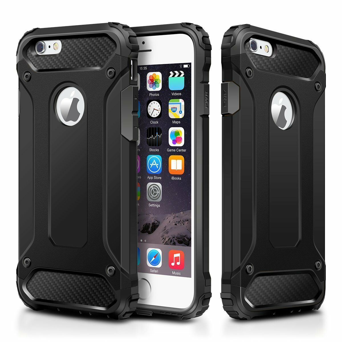 Case iPhone 6 6S 7 8 Plus Xr X Xs Max - Heavy Duty Hybrid Shockproof Armor Cover