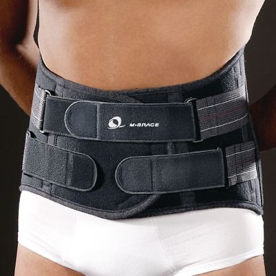M-Brace 582 Lumbar-Sacral Brace Gray 100% Breathable MSRP $93 Sizes S,3XL