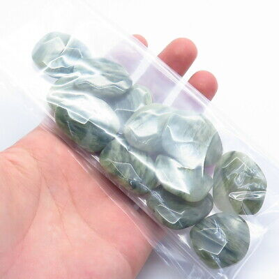 Old Stock LAST Set of 450.0ct Natural Green Agate Gemstone Beads