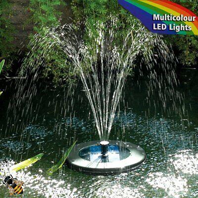 Floating Solar Fountain Pond Pump Multi Colour LED Lights Solar Pump