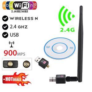 WIFI 900Mbps Wireless Adaptor Antenna 802.11 G N LAN Network USB Dongle Adapter