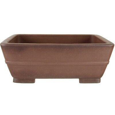 Bonsai pot 39.5x29x15.5cm antique brown rectangular unglaced H40163AB
