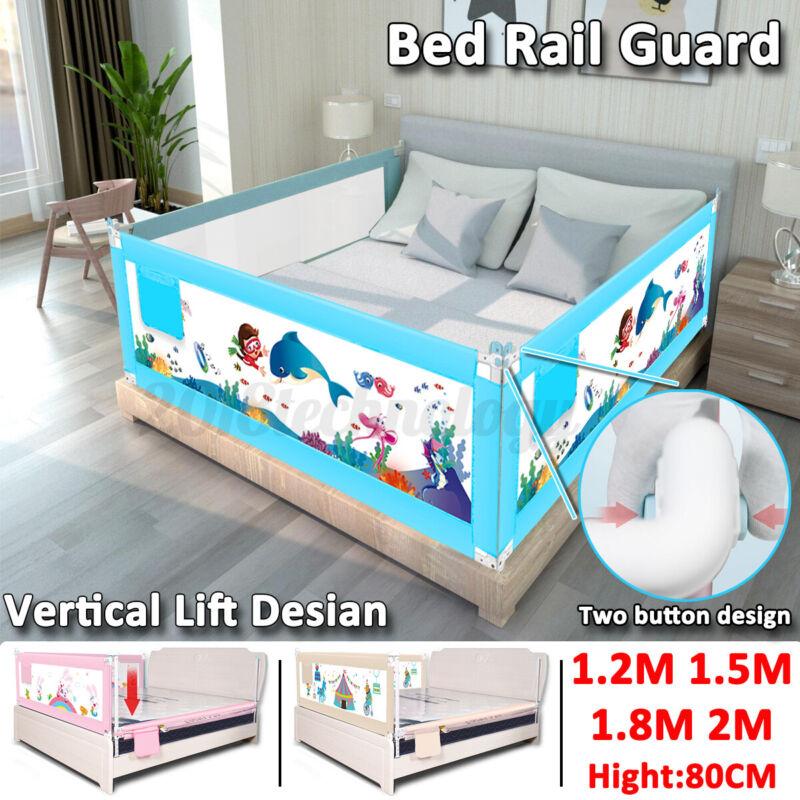 200cm Kids Bed Guard Toddler Safety Children Bedguard Baby Folding Metal Rail