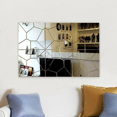 3D Modern Mirror Decal Art Mural Wall Sticker Home Decor Removable 7PCS/Set