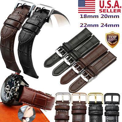 Crocodile Alligator Genuine Leather - 18mm/24mm 20/22mm Genuine Crocodile Alligator Leather Watch Strap Band Bracelet