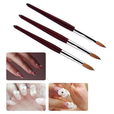 Wood Handle Kolinsky Acrylic Nail Art Brush Manicure Powder Professional Tools Kolinsky Nail Art Brush