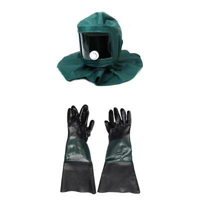 1 Pair Of Gloves 1pc Mask Hood For Cabinet Industrial Sand Blasting Blaster