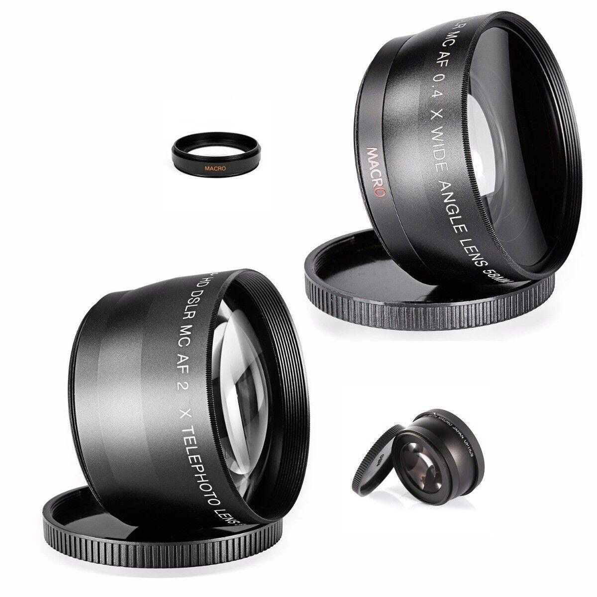 Wide Angle Macro Telephoto Lens kit F Nikon D5600 D3400 D550