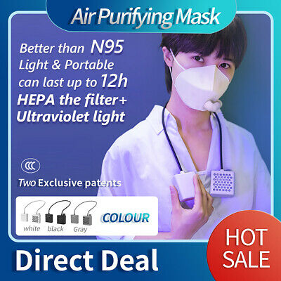 Electrical Airpro Mask Rechargeable Powered Air Purifying Respirator W Two Mask