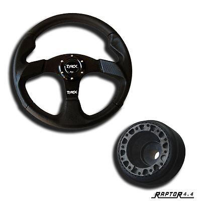 """Land Rover Defender 90 110 130 Steering Wheel 14"""" With 36 Spline Boss Kit 70mm"""