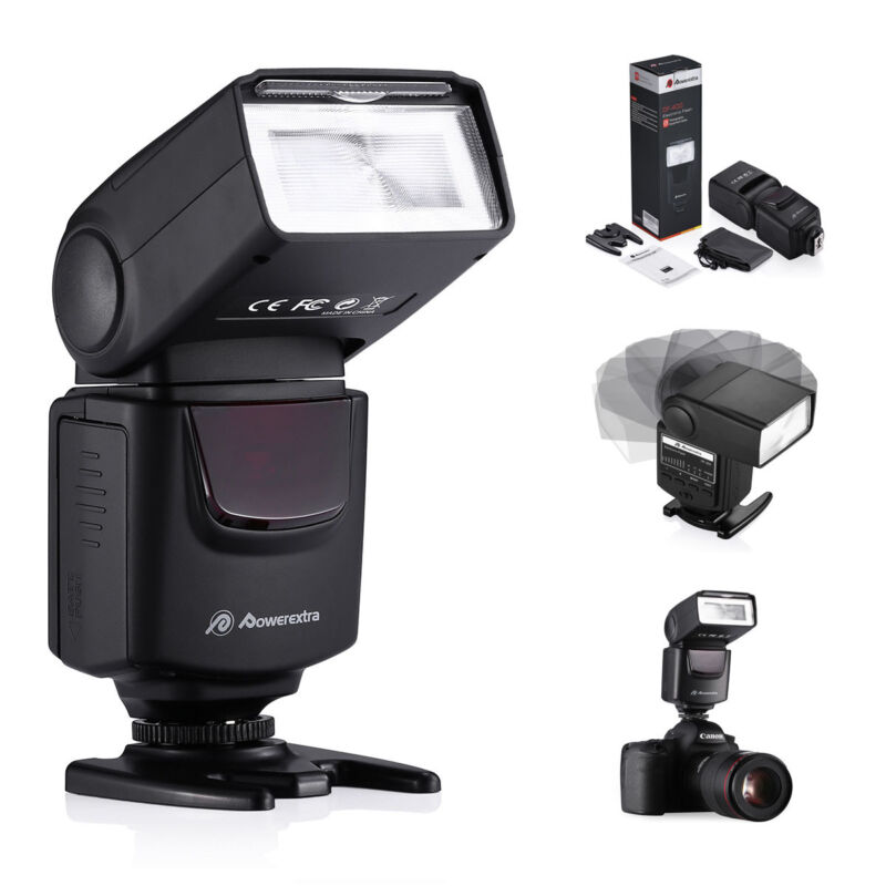 Speedlite Flash For Canon Rebel 550D 5D Nikon D3100 D5200 T3i T3 T6 T6i T5i T4i