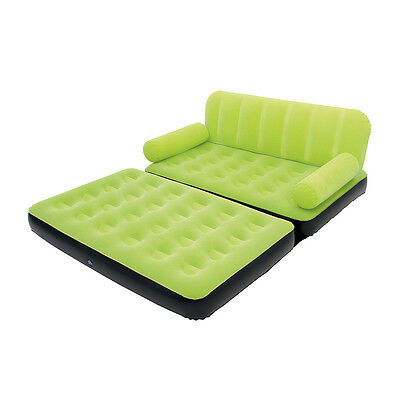 Bestway Multi-Max Air Couch With Sidewinder AC Air Pump - Green | 10026