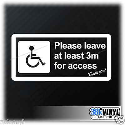 Disabled Mobility Please Leave 3m Access Car Van Window Bumper Sticker Decal