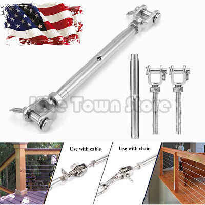 38 T316 Marine Grade Stainless Steel Jawjaw Closed Body Turnbuckle Us