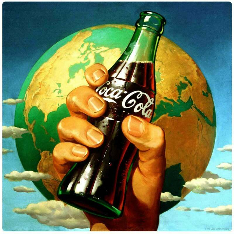 Coca-Cola Hand Holding Bottle Decal Peel & Stick Wall Graphic