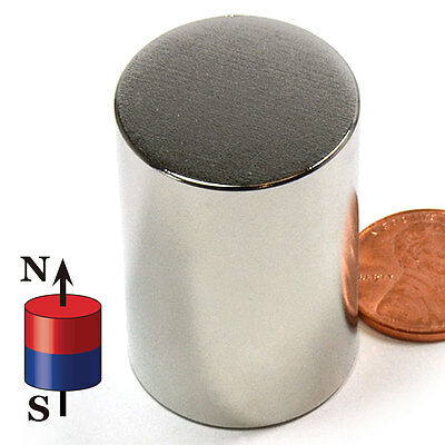 Cms Magnetics Super Strong N52 Neodymium Cylinder Magnet 1x 1-12 1-pc