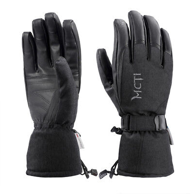 Mens Womens Waterproof Winter Ski Snowboard  Pu Leather Thinsulate Gloves  30 F