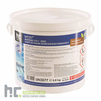 1 x 5 Kg Multitabs 5 in 1 Multi Tabs Chlor 200g - MADE IN EUROPE - Ohne Borsäure