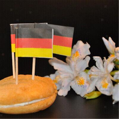 50x Deutschland Flagge Picks Papier Zahnstocher Lebensmittel Kuchen-Cocktail