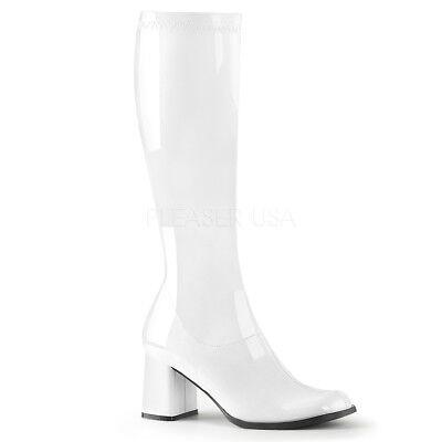 White Boots Halloween (White Goth Hippie 70s Disco Halloween Costume Cosplay Superhero)