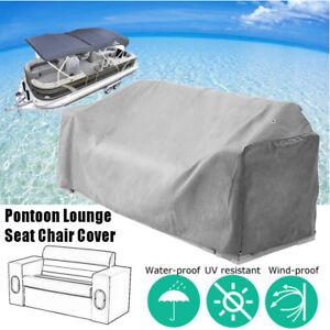 Grey Waterproof Zipper Pontoon Lounge Seat Chair Cover 23''D x56''W x 29''H
