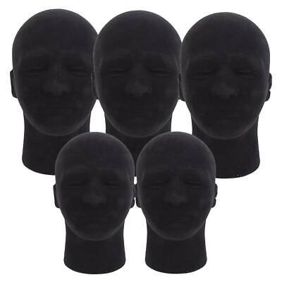 5pcs 11 Male Foam Mannequin Head Model Manikin Hat Wig Glasses Display Rack