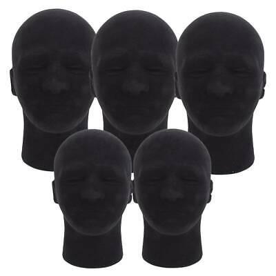 5pcs 11 Male Foam Mannequin Head Model Manikin Hat Wig Glasses Display Rack