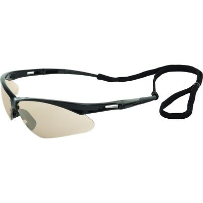 ERB Octane Safety Glasses with Indoor Outdoor Mirror Lens and Black Frame ()