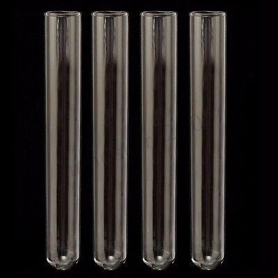 40pcs 20x150mm Borosilicate Glass Blowing Tubes Lab Medical Test Tubing