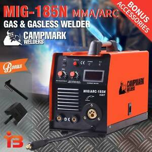 Campmark 185amp MIG/MMA/ARC Gas & Gasless Welder for Sale Fairfield Fairfield Area Preview