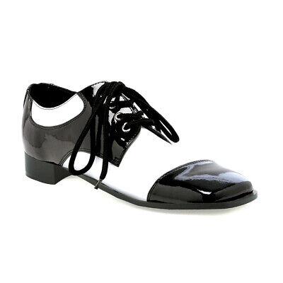 Ellie Shoes Fred Oxford Schwarz Weiß Zoot Pimp Gangster Kostüm Schuhe (Gangster Kostüm Schuhe)