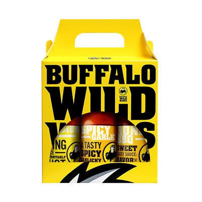 Buffalo Wild Wings Sauce and Seasoning pick any 3 Bottles. Ships FRESH and FREE