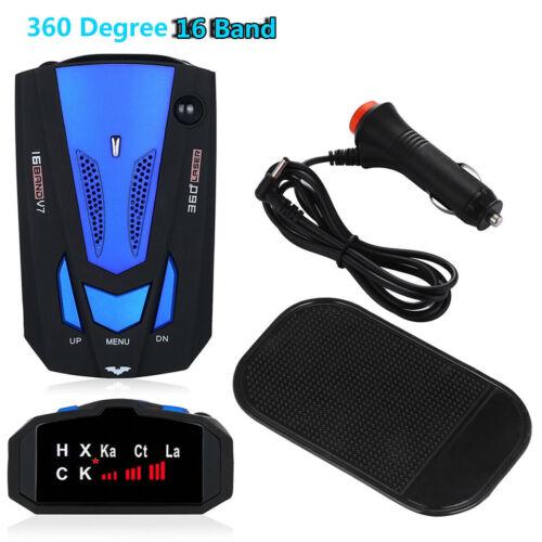 V7 Car 16 Band 360 Gps Camera Laser Police Safe Anti Radar Detector Voice Alert