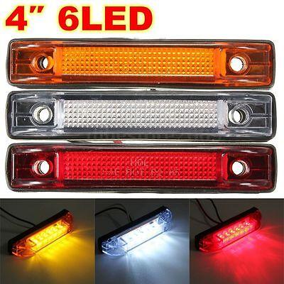 Clearance  6 LED Side Marker Light Indicator Lamp Strip Truck Trailer Lorry 12V