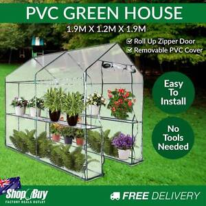 Free Delivery: Garden Walk In Greenhouse PVC Cover Plant House D Moorebank Liverpool Area Preview